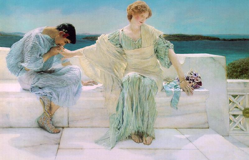 Alma Tadema  Ask Me No More